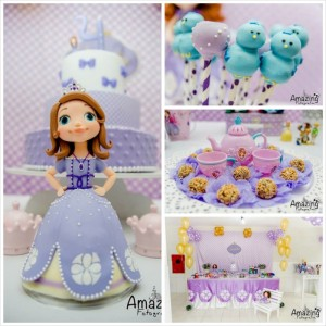 Sofia the First Themed Birthday Party with So Many Cute Ideas via Kara's Party Ideas | KarasPartyIdeas.com #princessparty #sofiathefirstparty #disneyprincess #partydecor #partyideas (23)