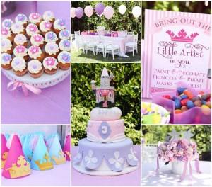 Disney Princess themed birthday party + Sofia the First with So Many Cute Ideas via Kara's Party Ideas KarasPartyIdeas.com #princessparty #princesssophiaparty #princesssophiacake #partydecor #partyideas (1)