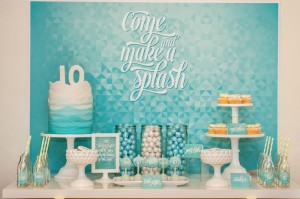 """Make a Splash"" themed Pool Party with Such Cute Ideas via Kara's Party Ideas KarasPartyIdeas.com #poolpartyideas #boyparty #karaspartyideas (6)"
