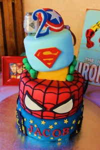 Vintage Superhero themed birthday party with SUPER AWESOME IDEAS via Kara's Party Ideas | KarasPartyIdeas.com #vintageboyparties #supeheroes #superheroparty #supeherocake #partydecor #partyideas (6)