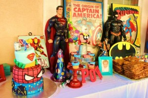Vintage Superhero themed birthday party with SUPER AWESOME IDEAS via Kara's Party Ideas | KarasPartyIdeas.com #vintageboyparties #supeheroes #superheroparty #supeherocake #partydecor #partyideas (5)