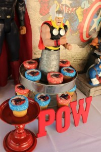Vintage Superhero themed birthday party with SUPER AWESOME IDEAS via Kara's Party Ideas | KarasPartyIdeas.com #vintageboyparties #supeheroes #superheroparty #supeherocake #partydecor #partyideas (3)