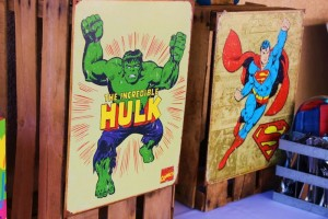 Vintage Superhero themed birthday party with SUPER AWESOME IDEAS via Kara's Party Ideas | KarasPartyIdeas.com #vintageboyparties #supeheroes #superheroparty #supeherocake #partydecor #partyideas (2)