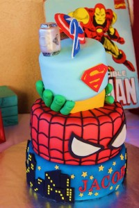 Vintage Superhero themed birthday party with SUPER AWESOME IDEAS via Kara's Party Ideas | KarasPartyIdeas.com #vintageboyparties #supeheroes #superheroparty #supeherocake #partydecor #partyideas (13)