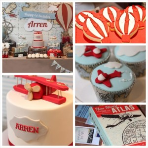 Up Up & Away Travel Themed 1st Birthday Party via Kara's Party Ideas KarasPartyIdeas.com #hotairballoons #airplanes #travel #birthdaypartyideas (22)