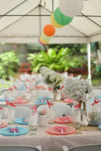 Shabby Chic Alice in Wonderland Themed Birthday Party Full of Fabulous Ideas via Kara's Party Ideas KarasPartyIdeas.com #aliceinwonderland #queenofhearts #madhatter #shabbychicparty #partyideas (9)