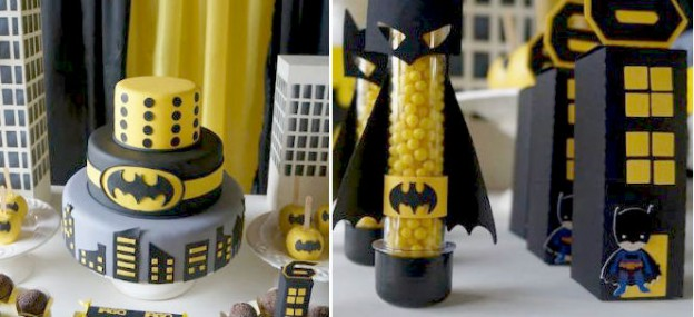Batman themed superhero party via Kara's Party Ideas KarasPartyIdeas.com #batman #batmanparty