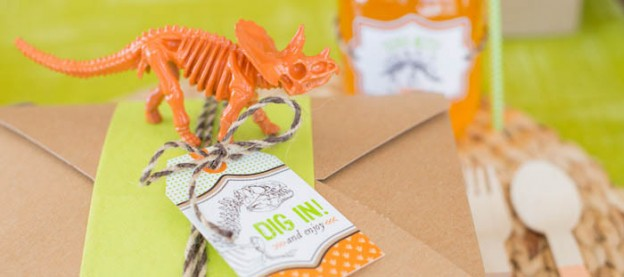 Dino Dig Themed Birthday Party with So Many Cute Ideas via Kara's Party Ideas KarasPartyIdeas.com #dinosaurparty #dinoparty #dinodig #dinopartyideas #dinocake #partydecor (1)