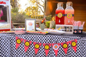 Race Car themed birthday party with Such Cute Ideas via Kara's Party Ideas | Cake, decor, cupcakes, games and more! KarasPartyIdeas.com #racecarparty #partyideas #carparty (18)