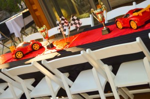 Race Car themed birthday party with Such Cute Ideas via Kara's Party Ideas | Cake, decor, cupcakes, games and more! KarasPartyIdeas.com #racecarparty #partyideas #carparty (30)