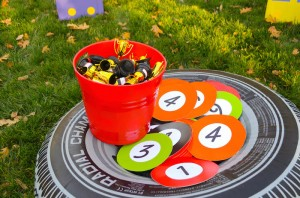 Race Car themed birthday party with Such Cute Ideas via Kara's Party Ideas | Cake, decor, cupcakes, games and more! KarasPartyIdeas.com #racecarparty #partyideas #carparty (14)