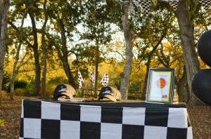Race Car themed birthday party with Such Cute Ideas via Kara's Party Ideas | Cake, decor, cupcakes, games and more! KarasPartyIdeas.com #racecarparty #partyideas #carparty (11)