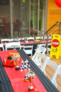 Race Car themed birthday party with Such Cute Ideas via Kara's Party Ideas | Cake, decor, cupcakes, games and more! KarasPartyIdeas.com #racecarparty #partyideas #carparty (9)