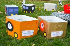 Race Car themed birthday party with Such Cute Ideas via Kara's Party Ideas | Cake, decor, cupcakes, games and more! KarasPartyIdeas.com #racecarparty #partyideas #carparty (8)