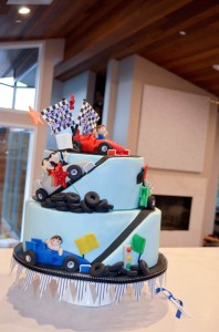 Race Car themed birthday party with Such Cute Ideas via Kara's Party Ideas | Cake, decor, cupcakes, games and more! KarasPartyIdeas.com #racecarparty #partyideas #carparty (7)