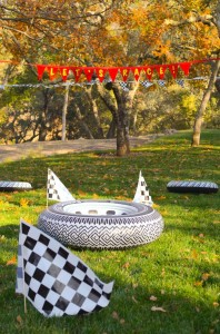 Race Car themed birthday party with Such Cute Ideas via Kara's Party Ideas | Cake, decor, cupcakes, games and more! KarasPartyIdeas.com #racecarparty #partyideas #carparty (3)