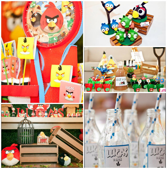Kara 39 s party ideas angry birds themed birthday party via for Angry bird decoration ideas