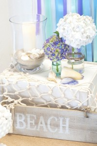 Beach Themed Engagement Party with Such Beautiful Ideas via Kara's Party Ideas KarasPartyIdeas.com #elegantbeachparty #engagementparty #partydecor #partyideas (13)