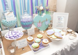 Beach Themed Engagement Party with Such Beautiful Ideas via Kara's Party Ideas KarasPartyIdeas.com #elegantbeachparty #engagementparty #partydecor #partyideas (10)