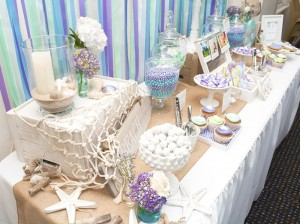 Beach Themed Engagement Party with Such Beautiful Ideas via Kara's Party Ideas KarasPartyIdeas.com #elegantbeachparty #engagementparty #partydecor #partyideas (7)