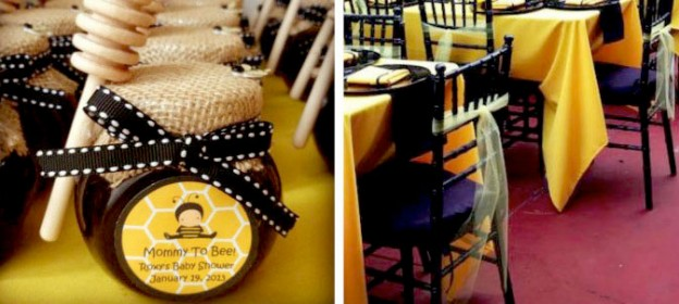 bee themed baby shower via Kara's party ideas karaspartyideas.com