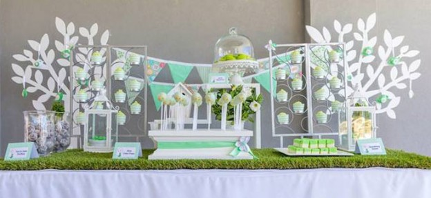 Mint Birdie Baby Shower with Lots of Really Cute Ideas via Kara's Party Ideas | Cake, decor, cupcakes, games and more! KarasPartyIdeas.com #birdieparty #birdparty #birdpartyideas #partydecor (2)