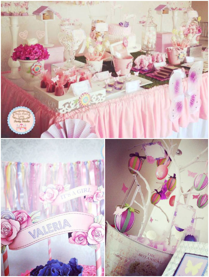 Butterfly Theme For Baby Shower Part - 50: Butterfly Garden Baby Shower Via Karau0027s Party Ideas KarasPartyIdeas.com  #butterflyparty #gardenparty #butterflybabyshowery #girlypartyideas # Babyshower