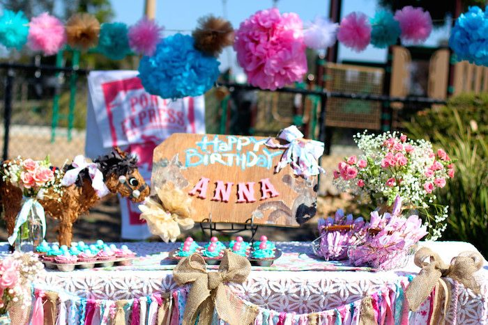 Kara S Party Ideas Vintage Cowgirl Themed Birthday Party