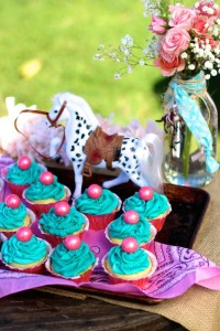 Vintage Cowgirl themed birthday party with Lots of Really Cute Ideas via Kara's Party Ideas | Cake, decor, cupcakes, games and more! KarasPartyIdeas.com #cowgirlparty #westernparty #partyideas #partydecor (16)