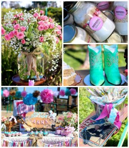 Vintage Cowgirl themed birthday party with Lots of Really Cute Ideas via Kara's Party Ideas | Cake, decor, cupcakes, games and more! KarasPartyIdeas.com #cowgirlparty #westernparty #partyideas #partydecor (1)