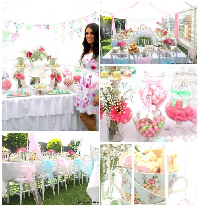 Cute Wedding Party Ideas: Kara's Party Ideas Floral High Tea Bridal Shower With
