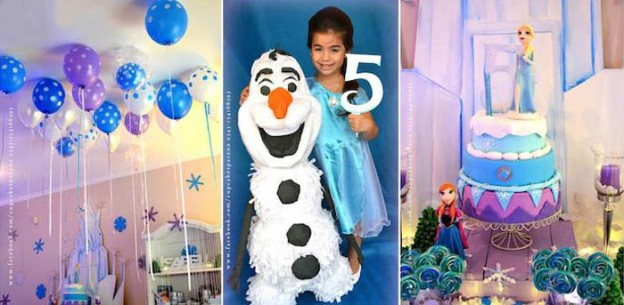 Frozen Themed Birthday Party with Lots of Really Cute Ideas via Kara's Party Ideas KarasPartyIdeas.com #frozenparty #frozen #disneyparty #frozencake #partyideas (1)