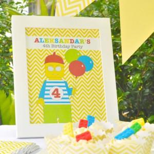 Lego themed birthday party with Such Awesome Ideas via Kara's Party Ideas | Cake, decor, cupcakes, games and more! KarasPartyIdeas.com #LegoParty #legos #legocake #partyideas #partydecor (13)