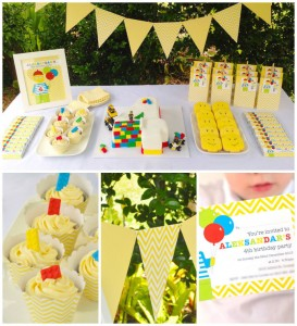 Lego themed birthday party with Such Awesome Ideas via Kara's Party Ideas | Cake, decor, cupcakes, games and more! KarasPartyIdeas.com #LegoParty #legos #legocake #partyideas #partydecor (1)