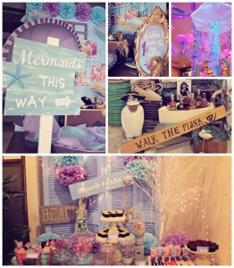 Mermaids vs. Pirates Themed Birthday Party with So Many Really Cute Ideas via Kara's Party Ideas KarasPartyIdeas.com #mermaidparty #pirateparty #mermaidsandpirates #partyideas #partydecor (59)