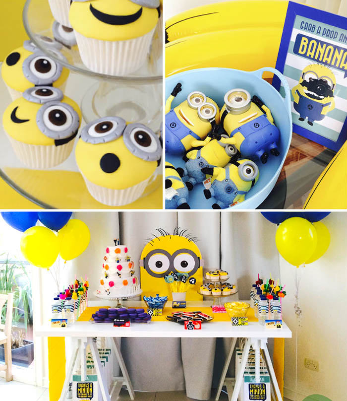 kara 39 s party ideas minion themed birthday party with so. Black Bedroom Furniture Sets. Home Design Ideas