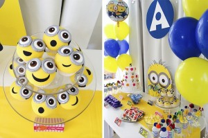Minion Themed Birthday Party with Such Cute Ideas via Kara's Party Ideas KarasPartyIdeas.com #minionparty #despicableme #partydecor #partyideas (3)