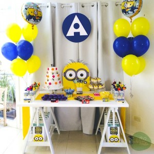 Minion Themed Birthday Party with Such Cute Ideas via Kara's Party Ideas KarasPartyIdeas.com #minionparty #despicableme #partydecor #partyideas (2)