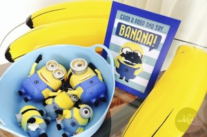 Minion Themed Birthday Party with Such Cute Ideas via Kara's Party Ideas KarasPartyIdeas.com #minionparty #despicableme #partydecor #partyideas (10)