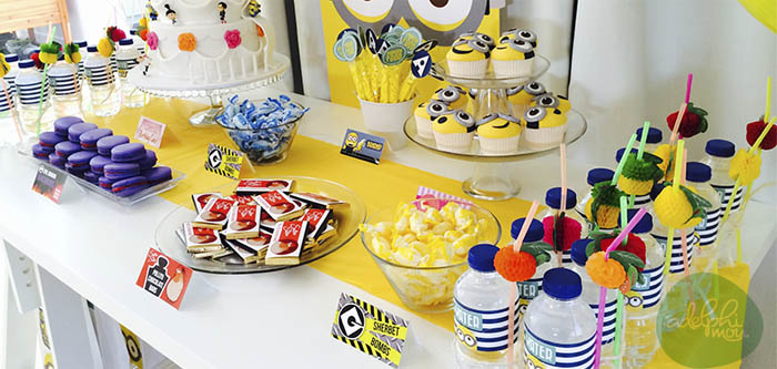 Karas Party Ideas Minions Themed Birthday