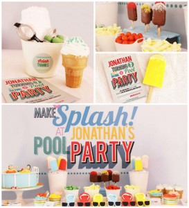 Summer Pool Party with Lots of Really Cute Ideas via Kara's Party Ideas Kara Allen KarasPartyIdeas.com #poolparty #summer #partydecor #partyideas (12)