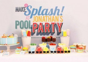 Summer Pool Party with Lots of Really Cute Ideas via Kara's Party Ideas Kara Allen KarasPartyIdeas.com #poolparty #summer #partydecor #partyideas (2)