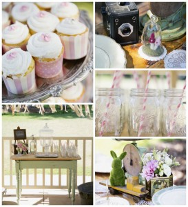 Vintage Quaint 1st birthday party Full of Cute Ideas via Kara's Party Ideas KarasPartyIdeas.com #vintagebirthdayparty #firstbirthday #partyideas #partydecor (18)