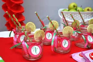 Strawberry and Watermelon themed birthday party with SUCH CUTE IDEAS via Kara's Party Ideas | Cake, decor, cupcakes, games and more! KarasPartyIdeas.com #strawberryparty #watermelonparty #strawberrysoiree #summersoiree #summerparty #partyideas #partydecor (4)