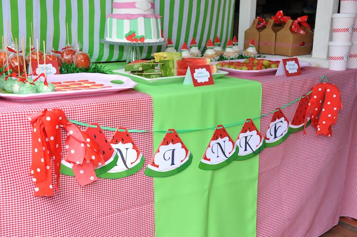 Kara S Party Ideas 187 Strawberry And Watermelon Themed