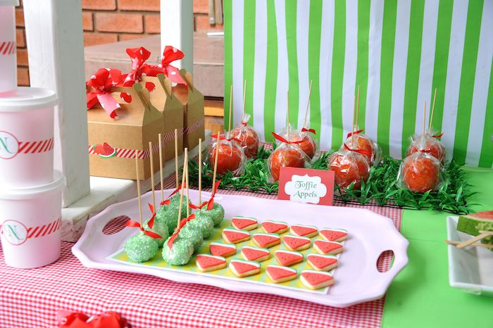 Strawberry And Watermelon Themed Birthday Party With SUCH CUTE IDEAS Via Karas Ideas