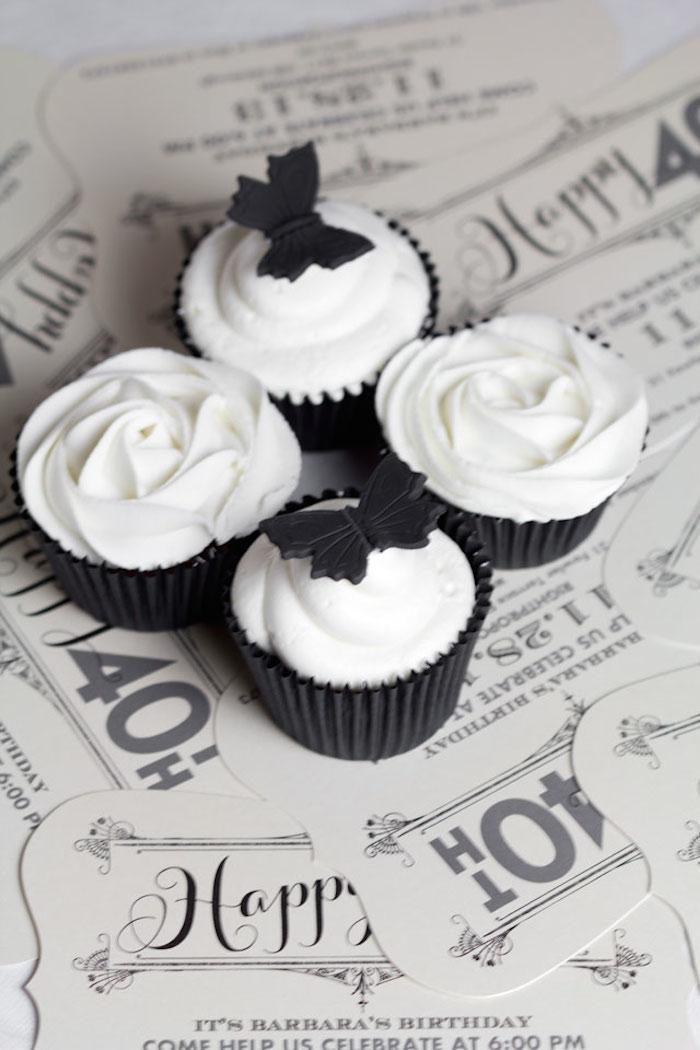 Black White Grey Party Ideas Stylish Black And White 40th Birthday