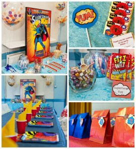 Vintage Superhero themed birthday party with Lots of Awesome Ideas via Kara's Party Ideas KarasPartyIdeas.com #superheroparty #vintagesuperhero #boybirthdayparty #partyideas #partydecor (15)