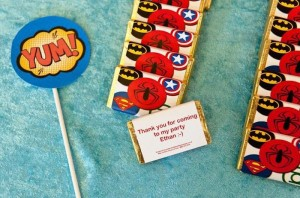 Vintage Superhero themed birthday party with Lots of Awesome Ideas via Kara's Party Ideas KarasPartyIdeas.com #superheroparty #vintagesuperhero #boybirthdayparty #partyideas #partydecor (4)