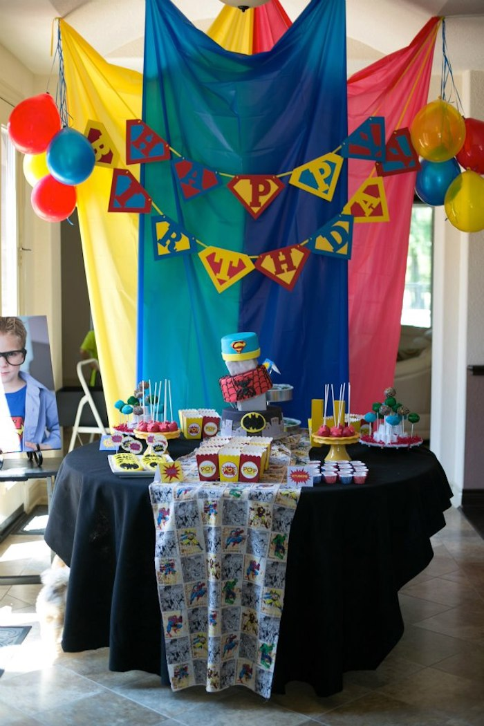 Kara S Party Ideas 187 Superhero Themed Birthday Party Via